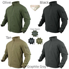 Condor 606 Tactical Phantom SoftShell Cold Weather Jacket YKK Zipper with Patch