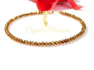 Metalic Gold Crystal Ankle Anklet Bracelet