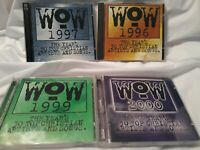Lot Of 4 (2 cds in each) WOW WORSHIP CD's -  1996 1997 1999 2000 Worship Songs!