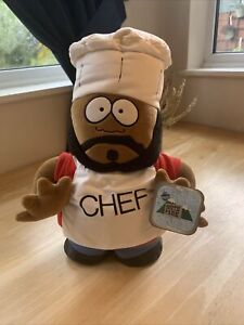 """1998 Fun-4-All South Park CHEF Believe 14"""" Inch Plush Soft Toy W/ Tags RARE"""