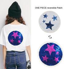 Estrella reversibles lentejuelas Parches Cosa ropa DIY bordado apliques