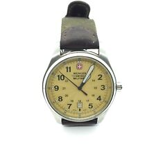 Wenger Watch Swiss Military 21mm Strap Stainless Steel Back Vintage 36030 CP