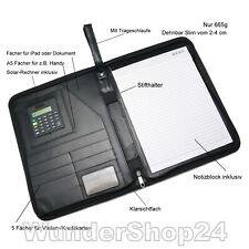 Schreibmappe Aktenmappe A4 iPad Mappe Slim Konferenzmappe Dokumentenmappe Leder