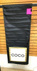 "Coco Chanel Banner 18"" x 90""  Black Gold White. Very Good Condition"