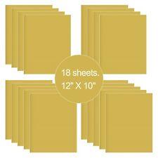 18 Sheets Glod HTV Iron On Heat Transfer Vinyl for T-Shirts Cricut Silhouette