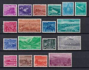 INDIA 1955, SG# 354-371, CV £100, Five Year Plan, MH