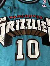 Mike Bibby Signed Autographed Vintage Champion Vancouver Grizzlies Jersey