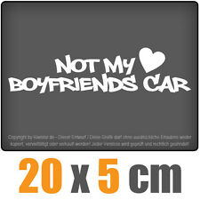 Not my boyfriends CAR 20 x 5 cm jdm decal sticker adesivo racing la cut