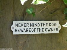 Unbranded Dog Cast iron Decorative Plaques & Signs