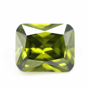 Olive Green Sapphire 12x16mm 19.28cts Emerald Faceted Cut AAAAA VVS Loose Gems