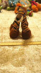 Dogs Training Chew Canvas Plush Puppies Stand Toy Cute Animals Tiger