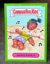 2015 GARBAGE PAIL KIDS SERIES 1 GREEN BORDER STICKER CARD # 34B POPPED PAULA