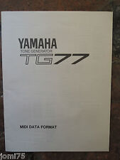 Rare Original YAMAHA 90' TG77 TG-77 SY MIDI DATA FORMAT UK English DE FR