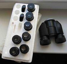LOMO BINOCULAR to microscope Zeiss eyepiece D=30 + 6x 8x 12,5x, eye cups MBS MBC