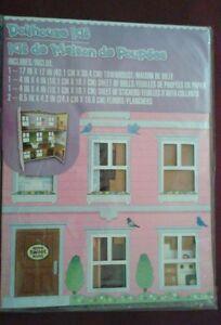 """DIY Dollhouse Kit de Maison de Poupées Townhouse 17"""" x 12"""" - New"""