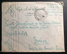 1943 Campobasso Isernia Italy Concentration Camp Cover To Swiss Red Cross