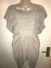 ALL SAINTS TILLY TAMIKO TEE GRAY SLOUCHY ASYMMETRIC TOP SIZE UK 10