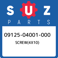 09125-04001-000 Suzuki Screw(4x10) 0912504001000, New Genuine OEM Part