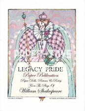 Reprint Legacy Pride Vol. 2 No. 1 - Donald Hendricks Paper Dolls - Shakespeare