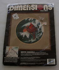 Dimensions Winter Cardinals No Count Cross Stitch Sealed Kit Birds 1990 New