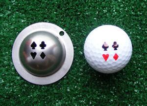 Tin Cup Golf Ball Custom Marker Alignment Tool Stencil