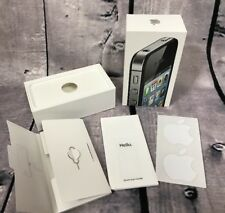 APPLE iPHONE 4S BOX ONLY W/ STICKERS MANUAL 16GB BLACK (H25)