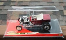 Johnny Lightning 1923 Ford T-Bucket Hot Rod Custom 1:18 Red White Flames