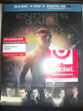Ender's Game Blu-ray STEELBOOK TARGET EXCLUSIVE NEW SEALED OOP LIMITED EDITION