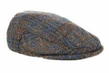 Harris Tweed Plaid Flat Cap Hat - Dark Sage - Unisex - Bronte Moon