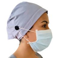 Made in USA Blue Print Scrub Cap Nurse Cap Surgical cap Scrub caps for women