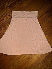 Lularoe Azure Cotton Light Peach Orange Solid Heathered Skirt Women's XL ❤️tw4j1