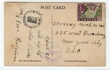 CURACAO: 1945 Twice censored picture postcard to USA (C37934)