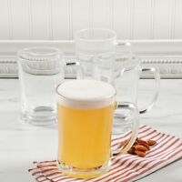 4 Pack Traditional Pub Stein Glass Beer Mug - 23 Oz. Tankard Beer Mugs