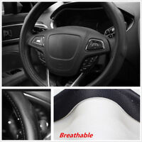 Real Leather Car Steering Wheel Cover Bump Wave Pattern 38CM