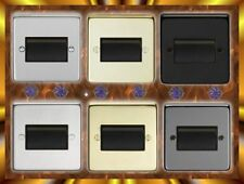 FAN ISOLATOR SWITCH. BLACK, BRASS OR STAINLESS STEEL, POLISHED OR BRUSHED.