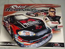 2009 ROBERT RICHARDSON #23 MAHINDRA TRACTORS 8X10 NASCAR POSTCARD
