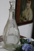 BOTTIGLIA D'EPOCA IN VETRO H cm 29 - VINTAGE GLASS BOTTLE - DECANTER