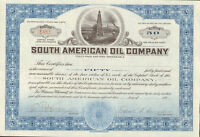 South American Oil Company > 1920s stock certificate 50 shares
