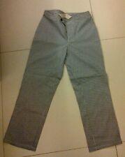 Used Giordano Khakis Women's Gingham Stretch Crop Pants size 25 Black
