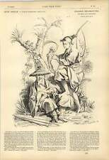 1863 F Boucher Decorative Chinese Figures Panel Elements Earth Artwork