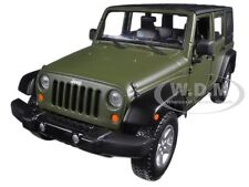 2015 JEEP WRANGLER UNLIMITED GREEN 1/24 DIECAST CAR MODEL BY MAISTO 31268
