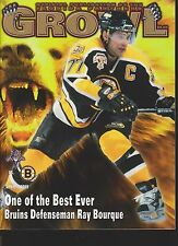 Growl Magazine Florida Panthers Vs Boston Bruins Ray Bourque Cover 4/7/99