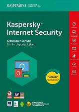 KASPERSKY INTERNET SECURITY 2018 multi-device 3 PC / Geräte  2 Jahre Vollversion