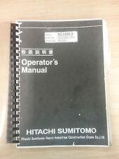 Hitachi Sumitomo Crane SC1000-2 Operators Maunal