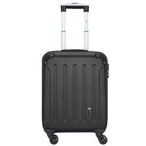CHECK.IN Chicago 4-Rollen Kabinen Koffer Trolley 55 cm (schwarz-dr)