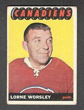 1965-66 GUMP WORSLEY #2 G+ Topps * Habs HALL OF FAME Star Goalie NHL Hockey Card
