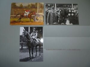 3 SEABISCUIT  POSTCARDS - ALL DIFFERENT