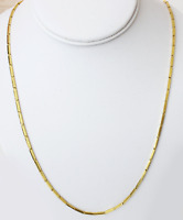"""22k gold necklace baht chain from thai thailand ( 22"""")"""
