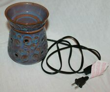 Scentsy Lisbon Swirl Brown Blue Electric Warmer Iridescent Full Size Dsw-Lisb