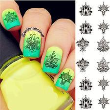 NICOLE DIARY Nail Art Water Transfer Decal Manicure Sticker Designs Decor